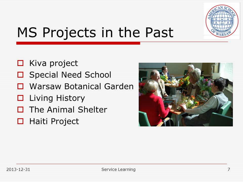 MS Projects in the Past Kiva project Special Need School