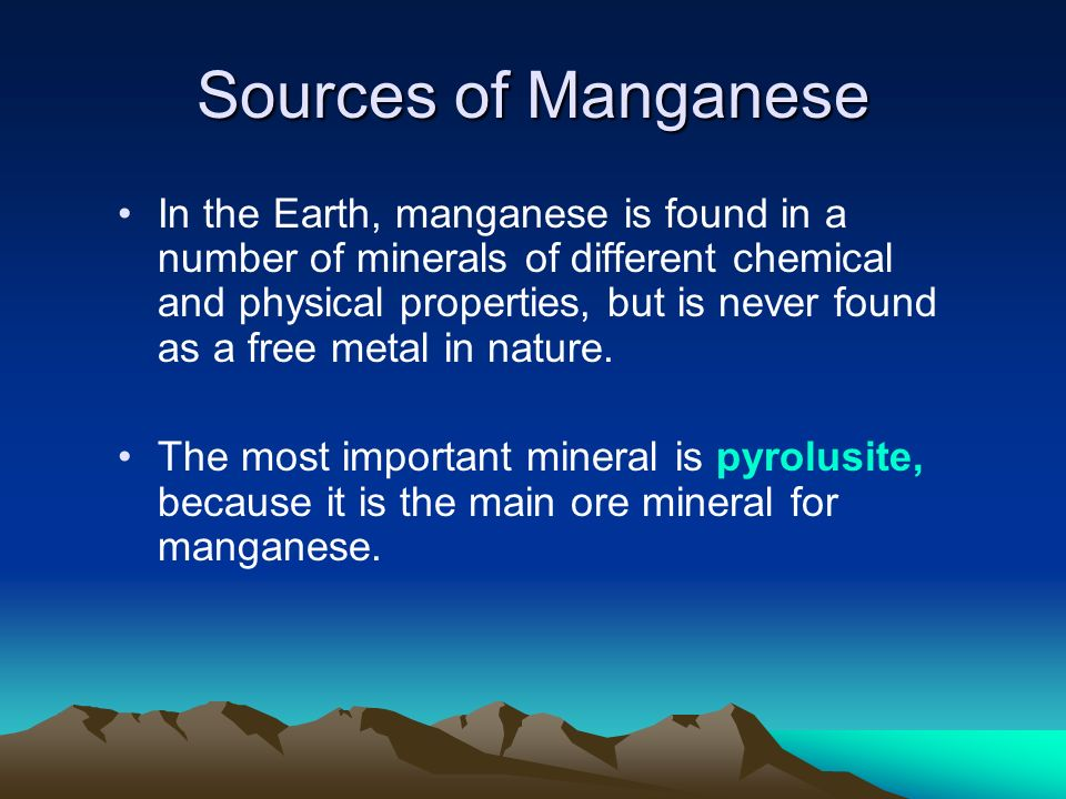 Sources of Manganese