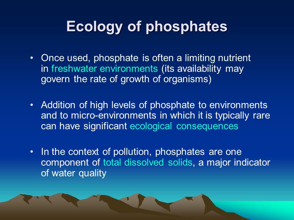 Ecology of phosphates