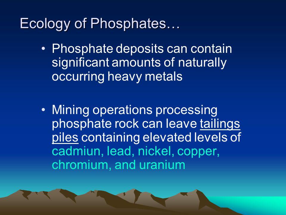 Ecology of Phosphates…