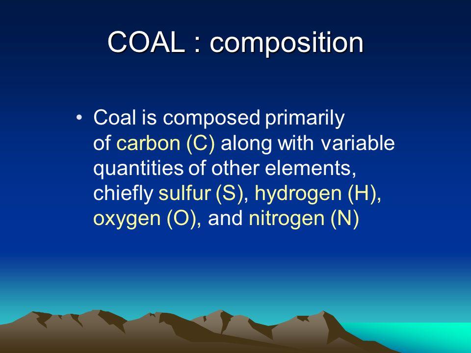 COAL : composition