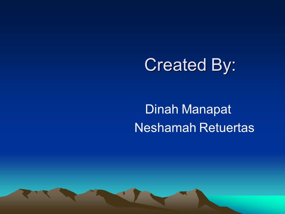 Created By: Dinah Manapat Neshamah Retuertas