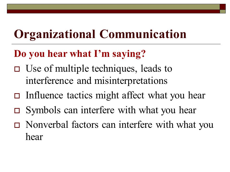 Organizational Communication