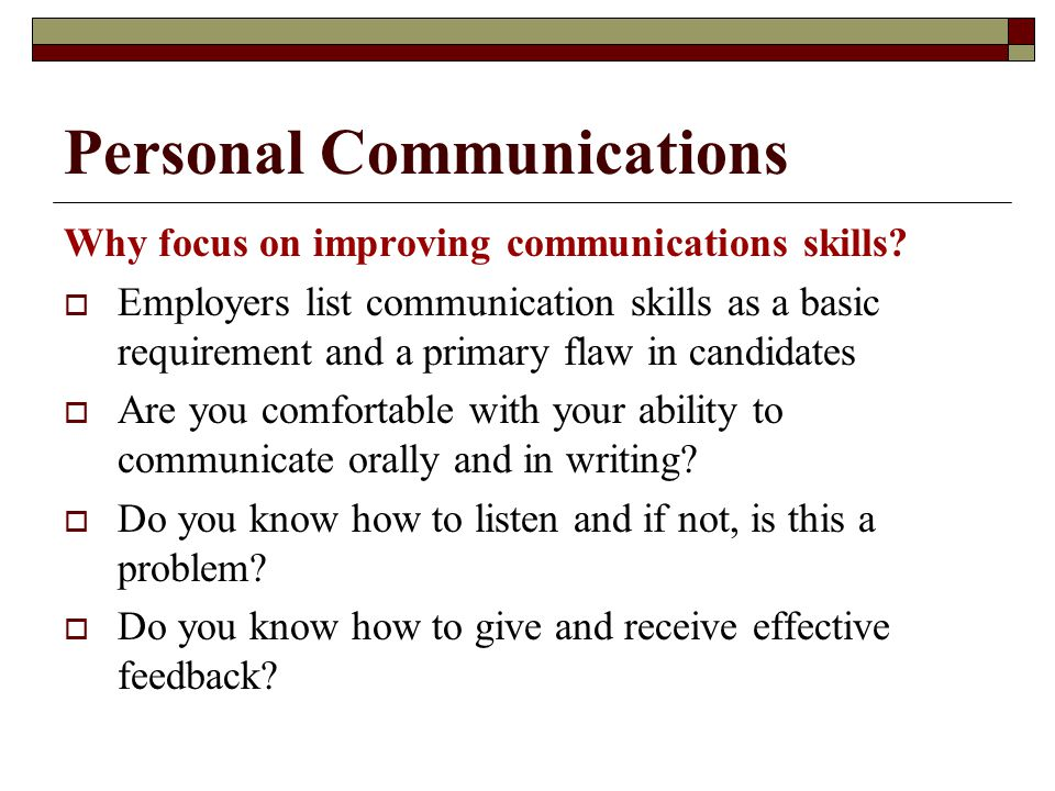 Personal Communications