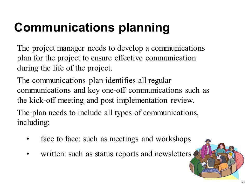 Communications planning