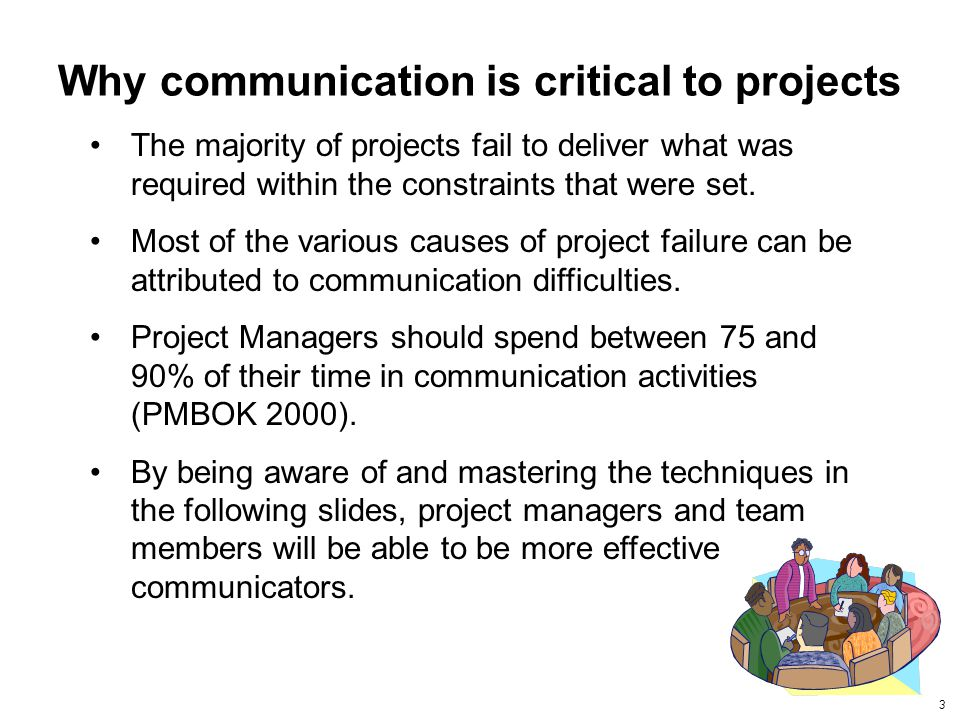 Why communication is critical to projects