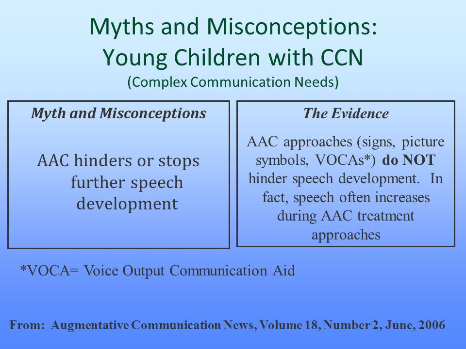 Myths and Misconceptions: Young Children with CCN (Complex Communication Needs)