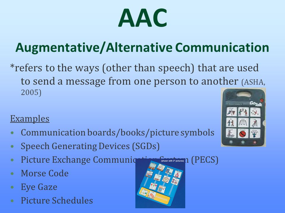 AAC Augmentative/Alternative Communication