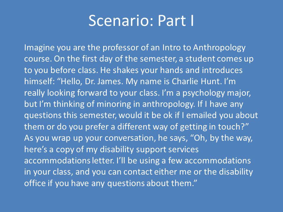 Scenario: Part I