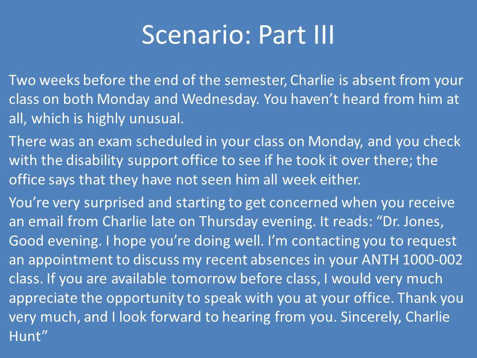 Scenario: Part III