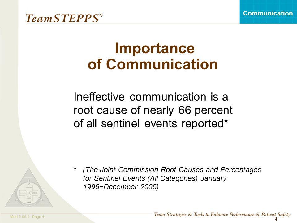 Importance of Communication