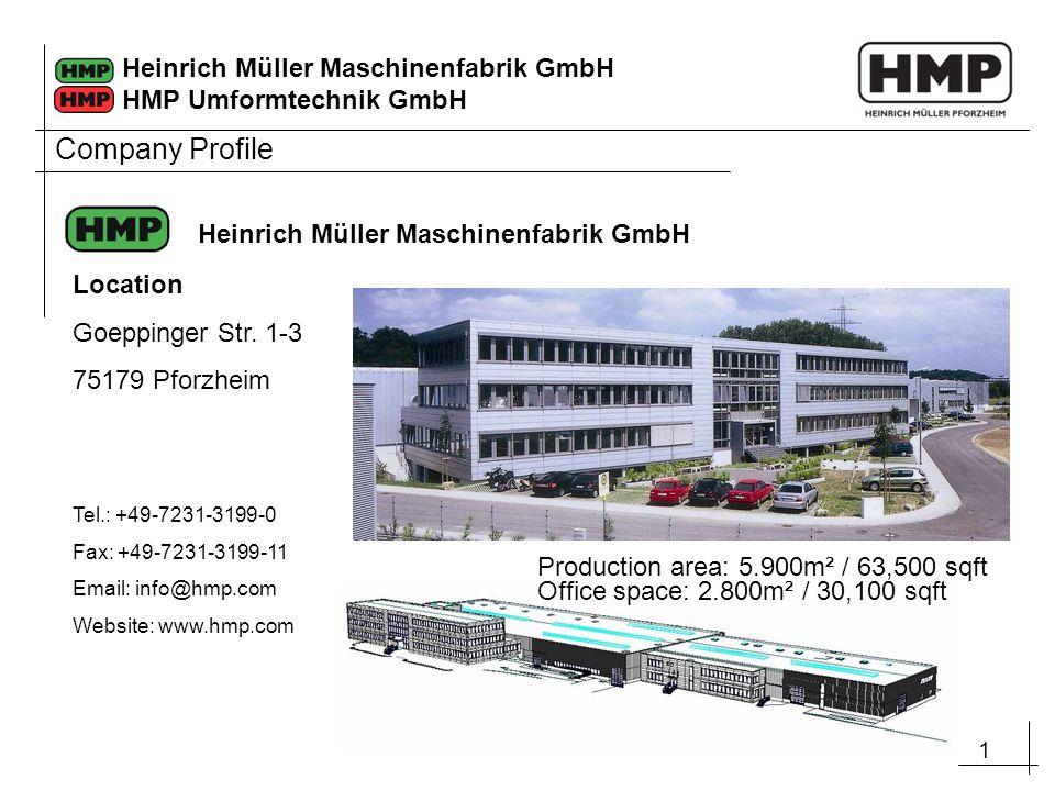Company Profile Heinrich Müller Maschinenfabrik GmbH Location