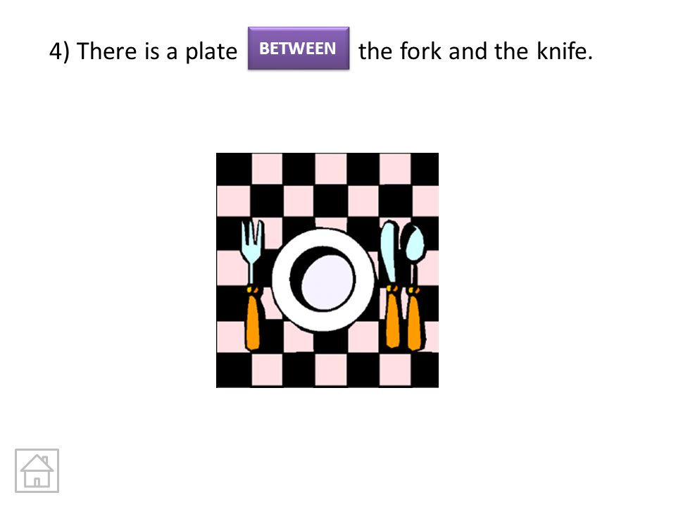 4) There is a plate the fork and the knife.
