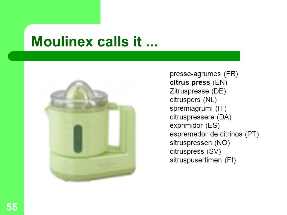 Moulinex calls it ...