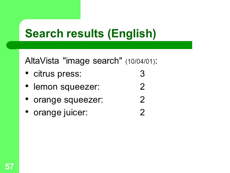 Search results (English)