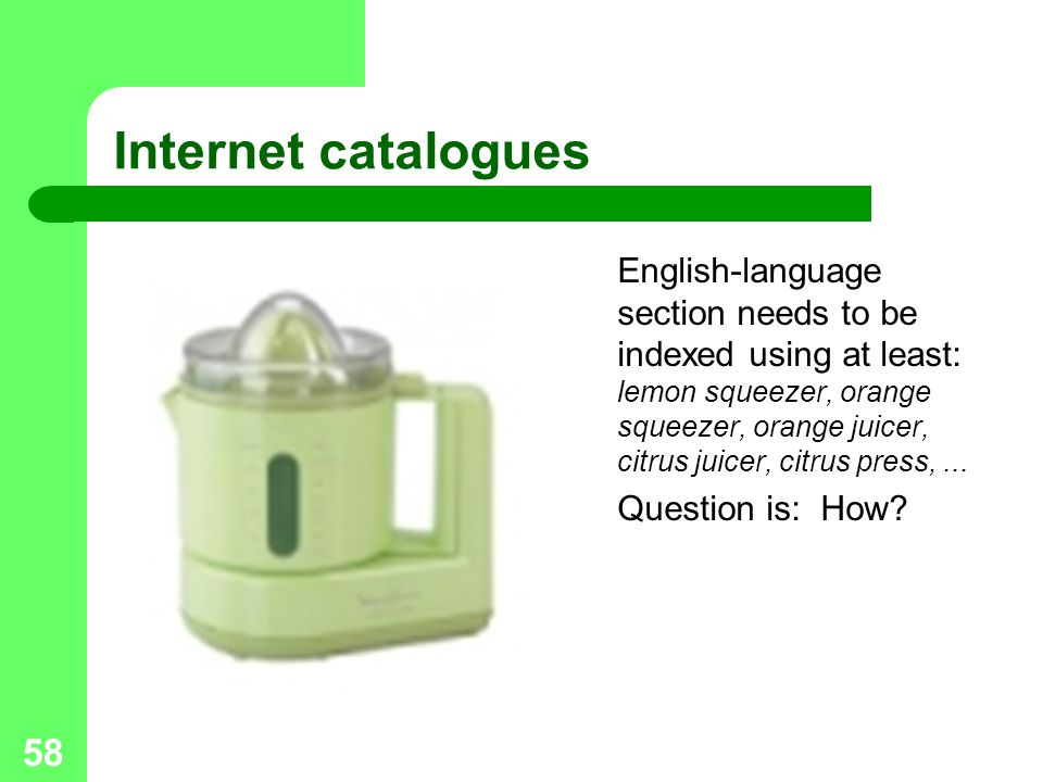 Internet catalogues