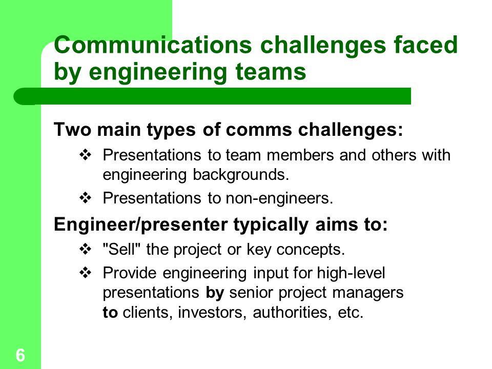 Communications challenges faced by engineering teams