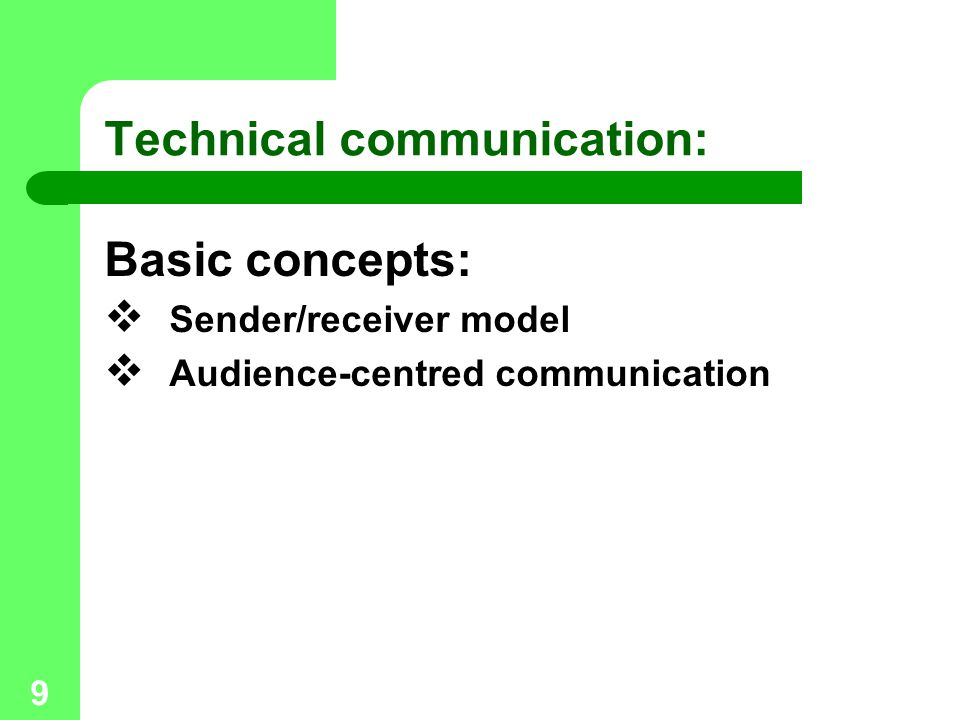 Technical communication: