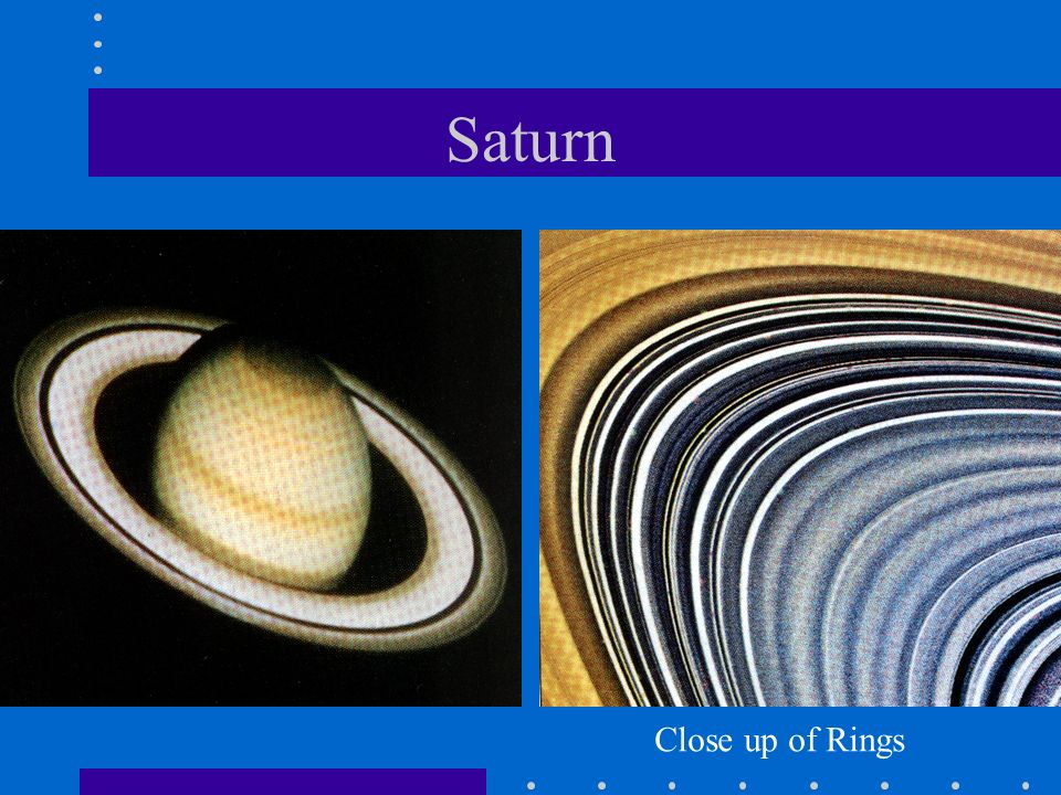 Saturn Close up of Rings