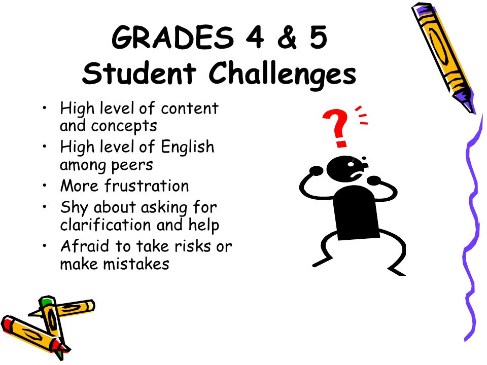 GRADES 4 & 5 Student Challenges
