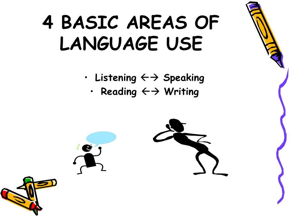 4 BASIC AREAS OF LANGUAGE USE