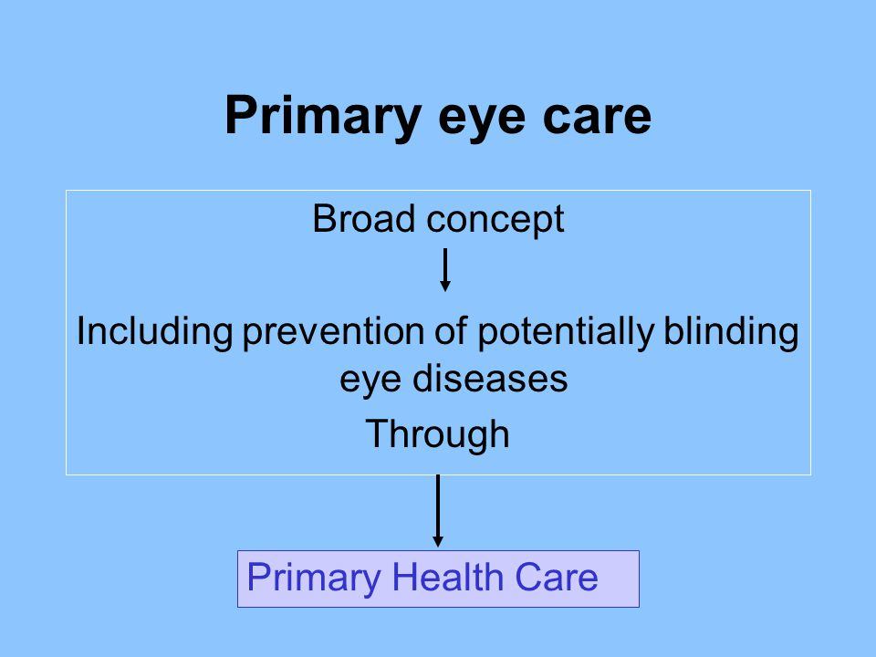 Including prevention of potentially blinding eye diseases