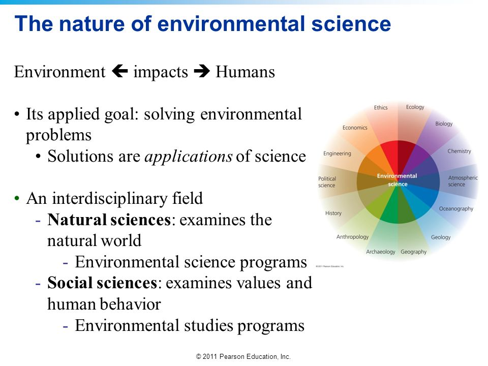 The nature of environmental science