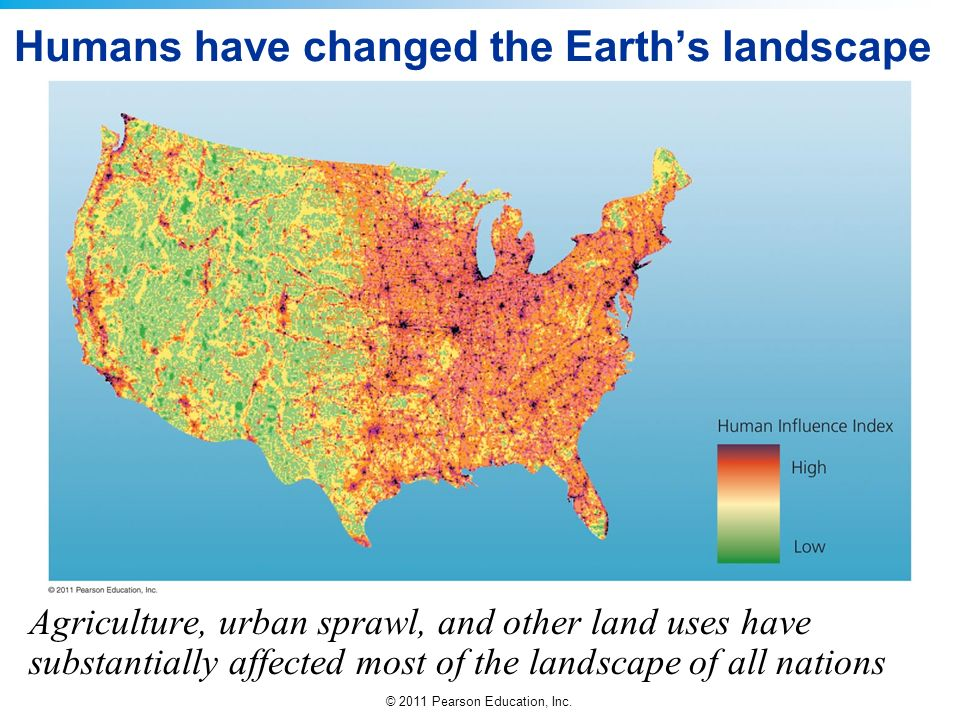 Humans have changed the Earth's landscape