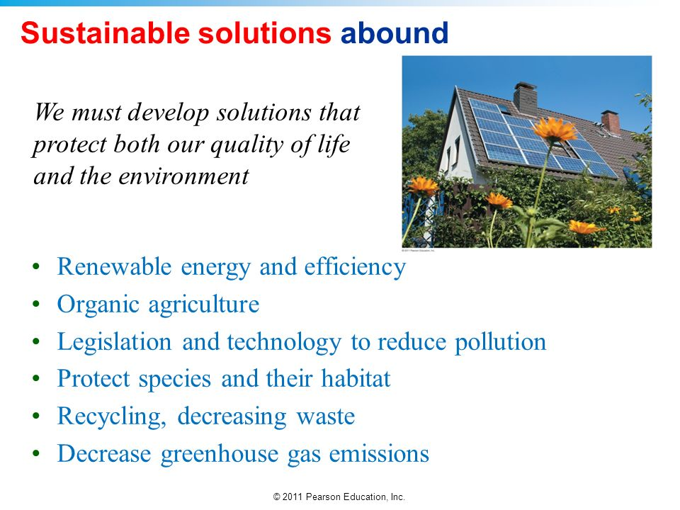 Sustainable solutions abound
