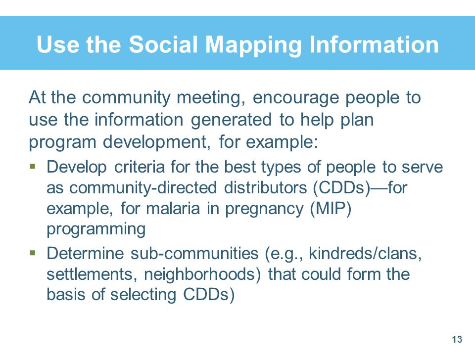 Use the Social Mapping Information