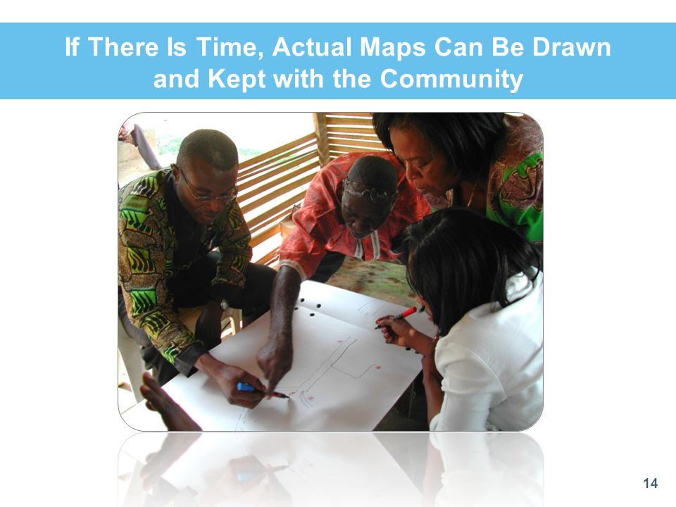 If There Is Time, Actual Maps Can Be Drawn and Kept with the Community