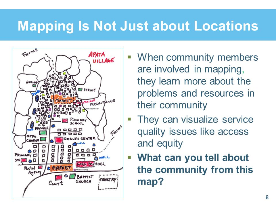 Mapping Is Not Just about Locations