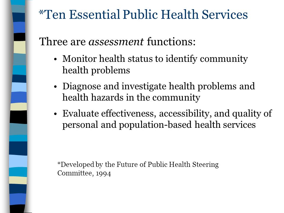 *Ten Essential Public Health Services