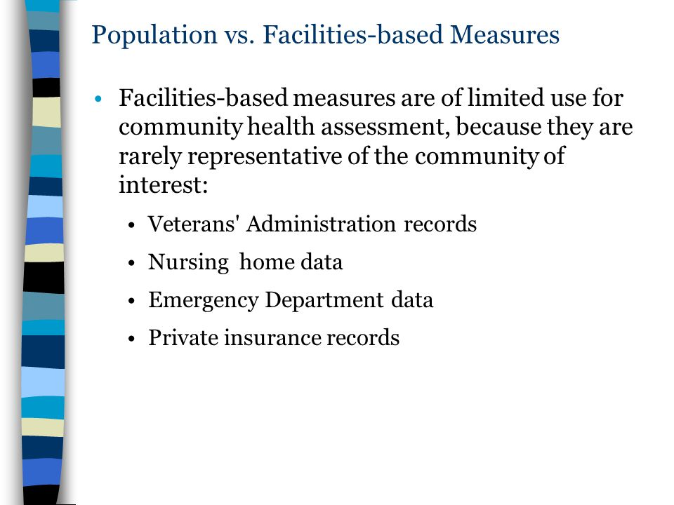 Population vs. Facilities-based Measures