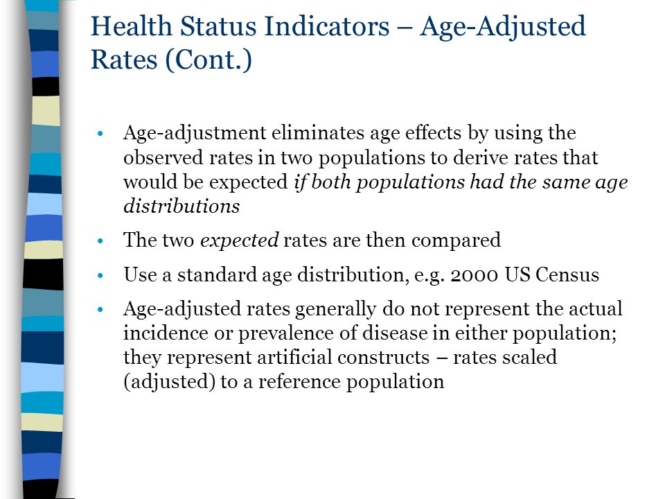 Health Status Indicators – Age-Adjusted Rates (Cont.)