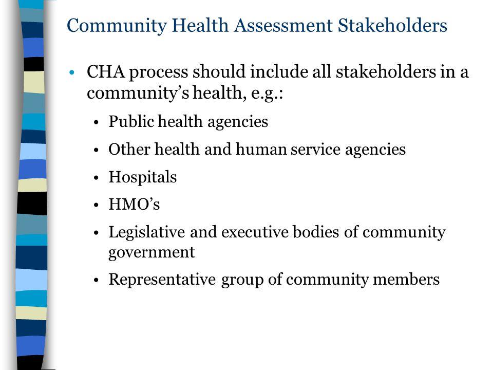 Community Health Assessment Stakeholders