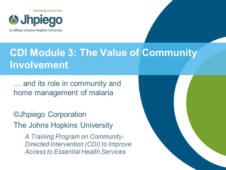 CDI Module 3: The Value of Community Involvement