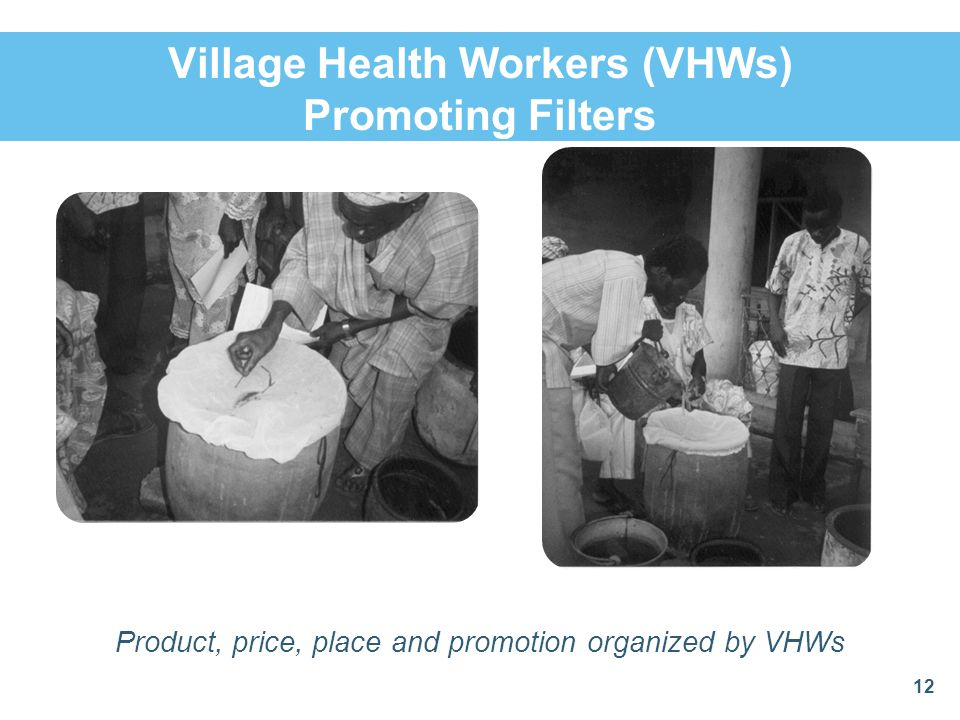 Village Health Workers (VHWs) Promoting Filters