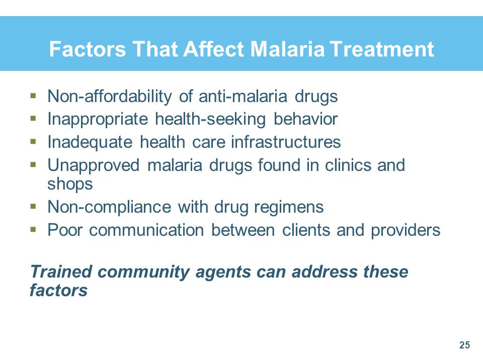 Factors That Affect Malaria Treatment