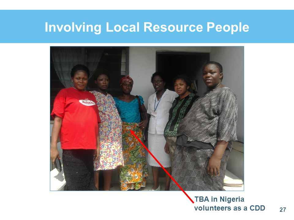 Involving Local Resource People