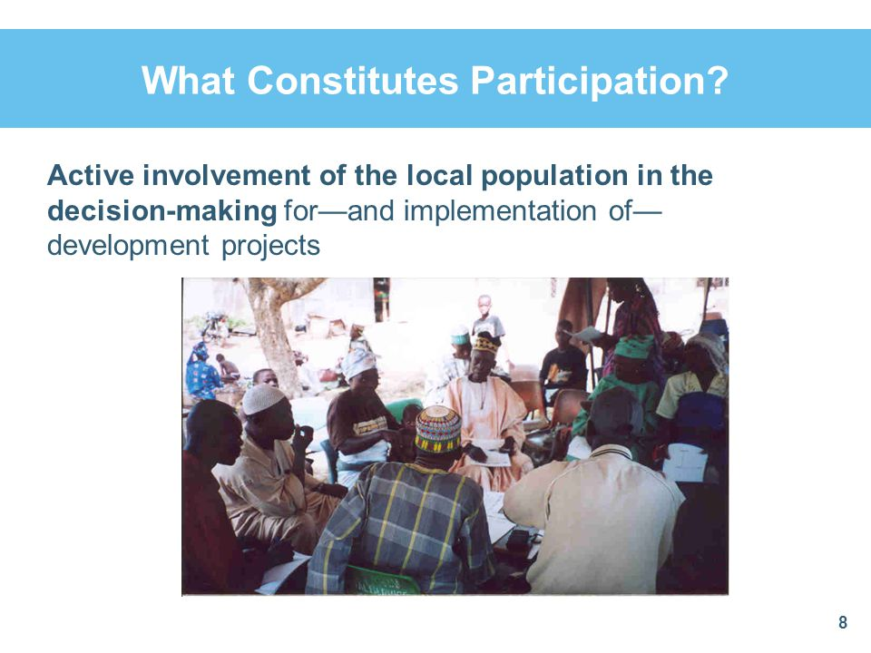 What Constitutes Participation