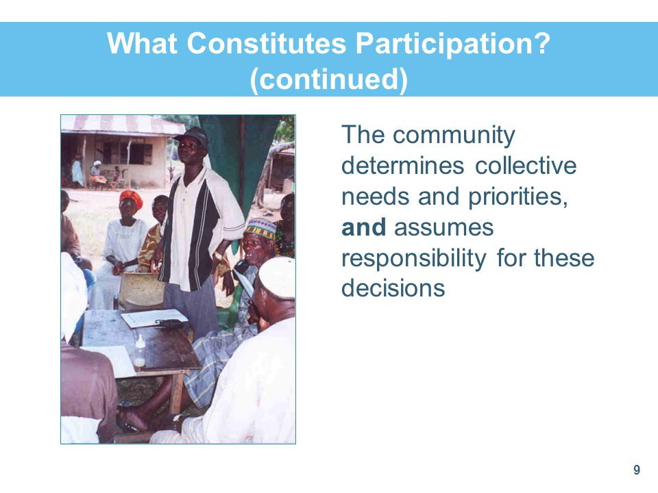 What Constitutes Participation (continued)