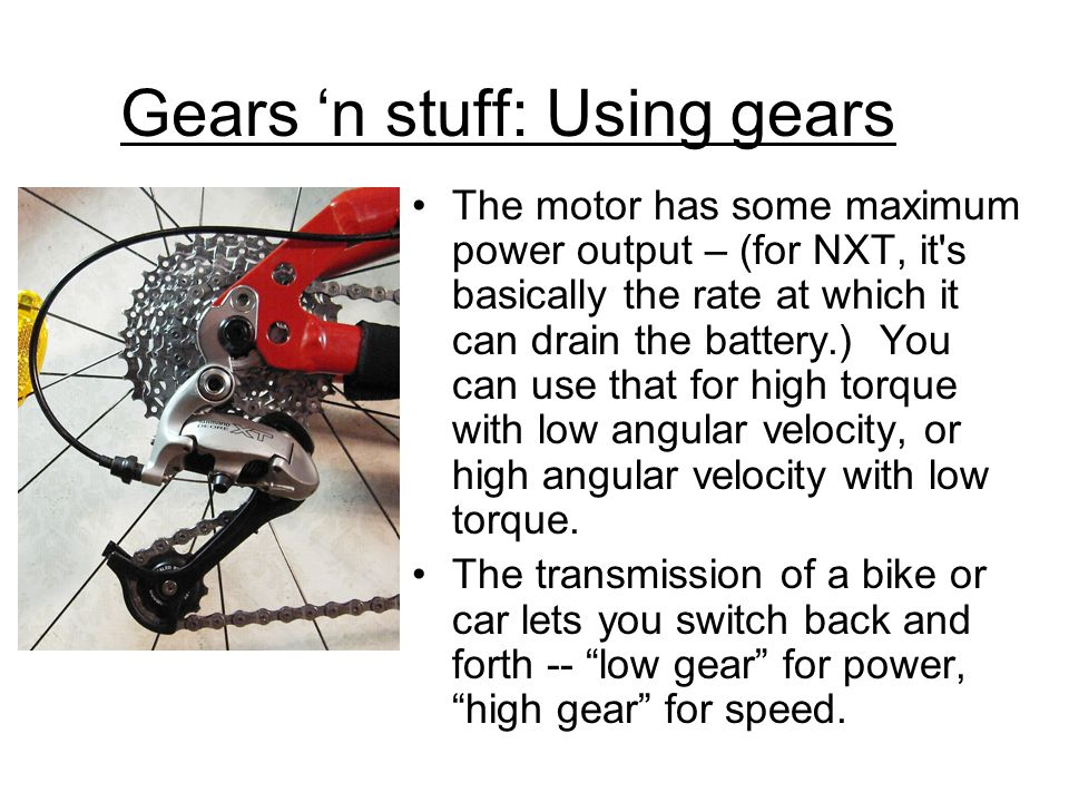 Gears 'n stuff: Using gears