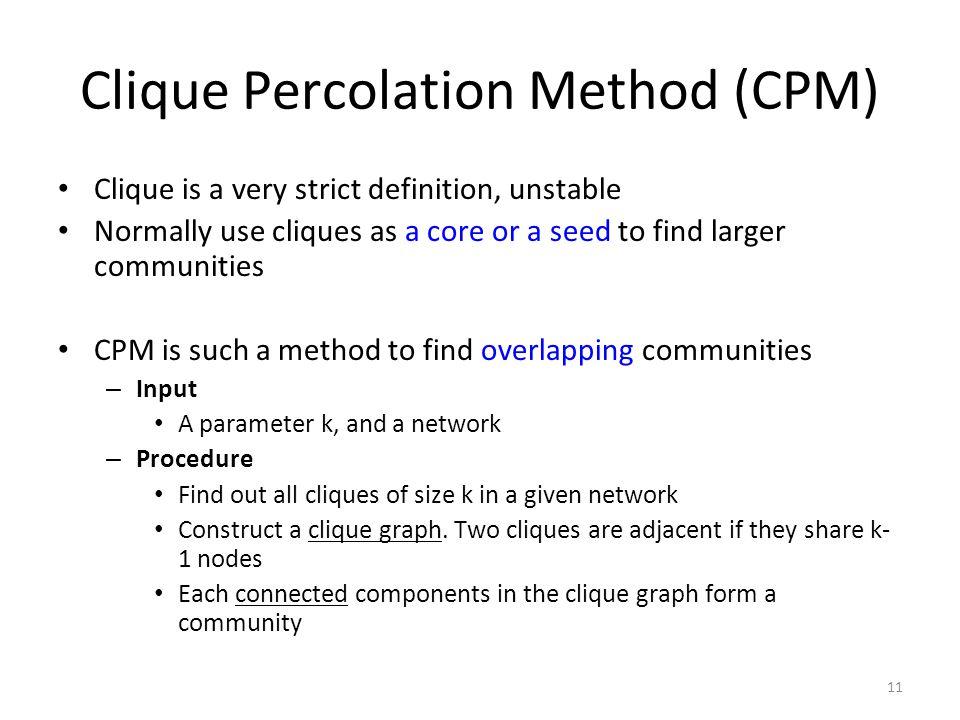 Clique Percolation Method (CPM)
