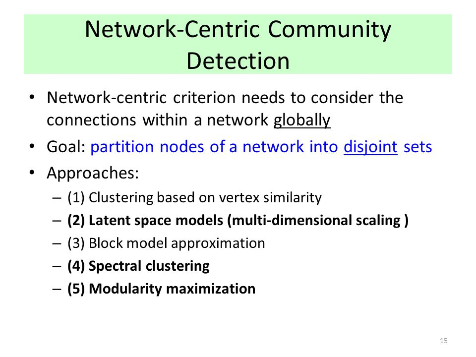 Network-Centric Community Detection