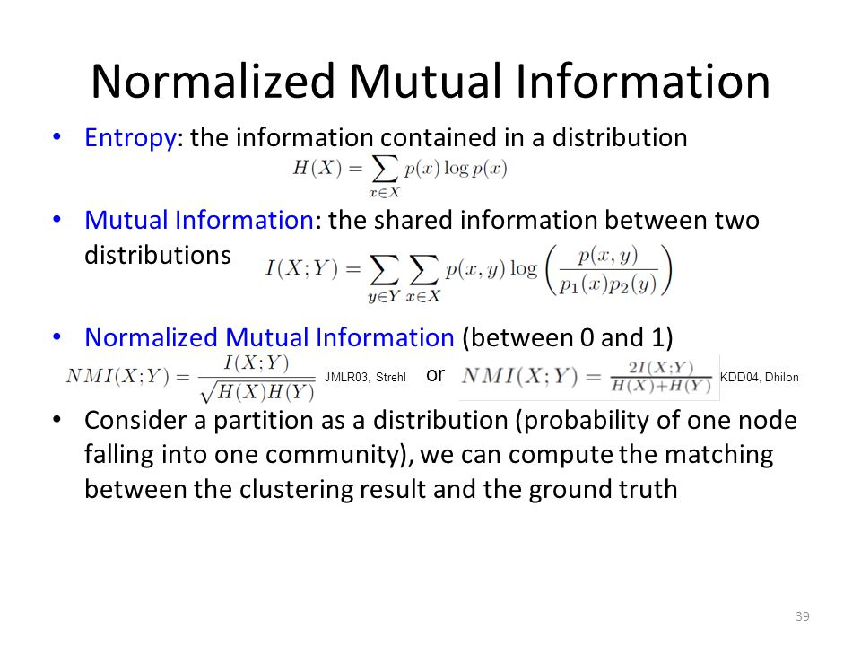 Normalized Mutual Information