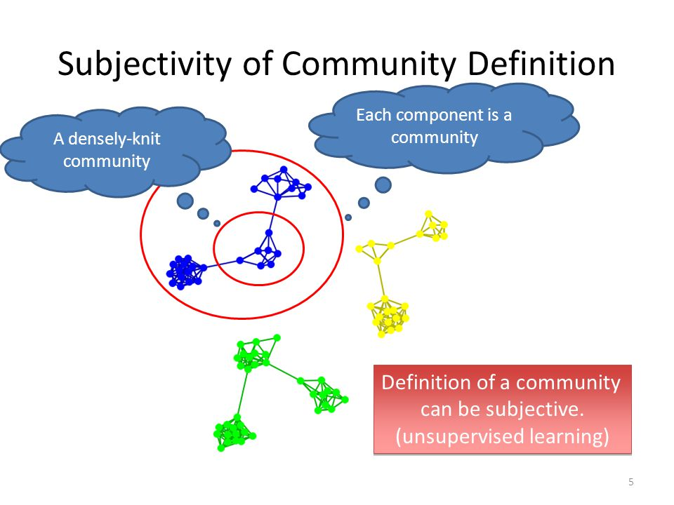 Subjectivity of Community Definition