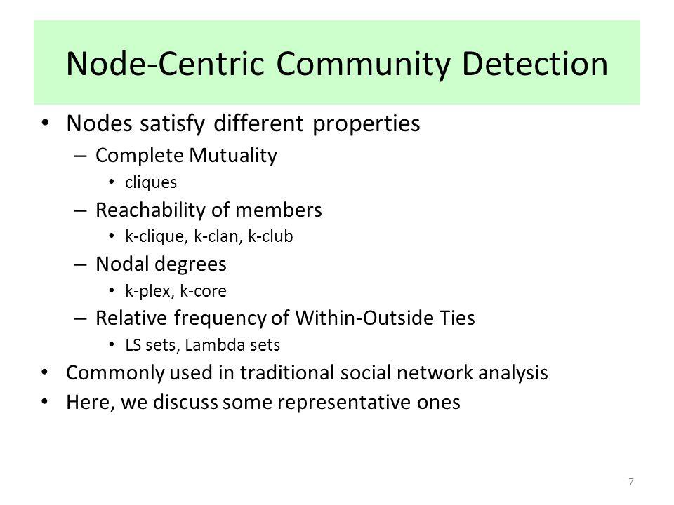 Node-Centric Community Detection