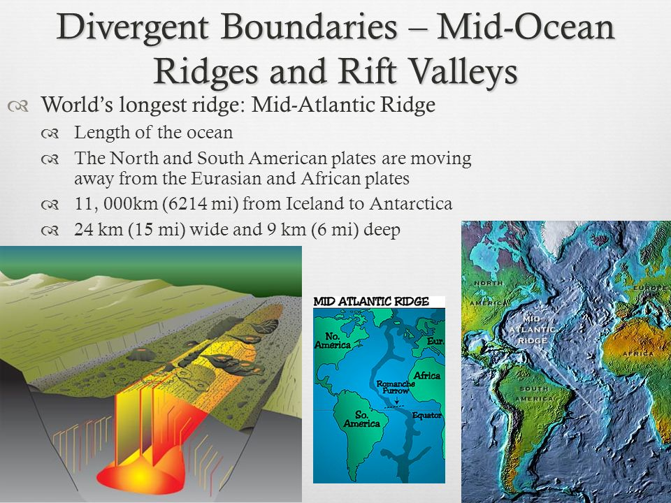 Divergent Boundaries – Mid-Ocean Ridges and Rift Valleys