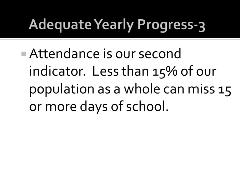 Adequate Yearly Progress-3